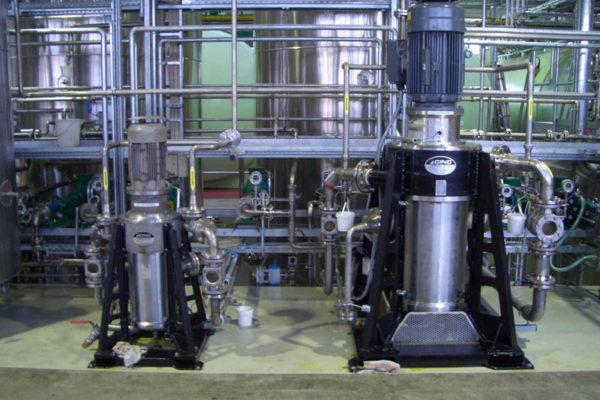 1 x V10 + 1 x V16 in a Biodiesel Glycerin / Ester separation (0 – 15000 l/h). CS 330